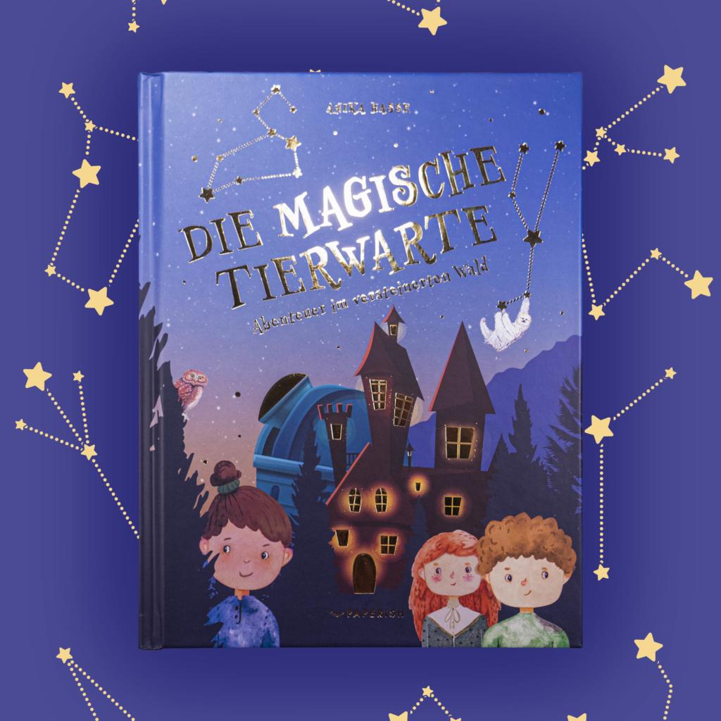 Illustrationen für das Kinderbuch: Die magische Tierwarte - Abenteuer im versteinerten Wald